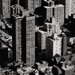 Rangée immeubles ville béton