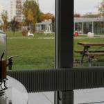 Jus de fruit vue jardin Kedge Université des Entreprises Bordeaux Business