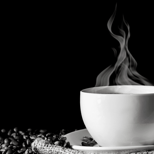 Café tasse Brûlante Grains Michel