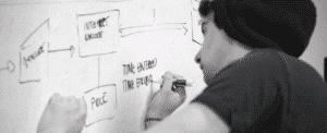Réunion sur la stratégie d'entreprise et l'ouverture aux sens