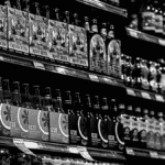 Épicerie rayon boissons bouteilles