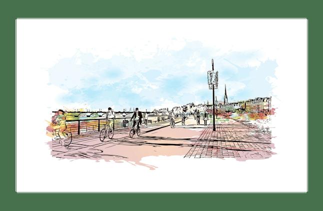 Communication print Bordeaux Business