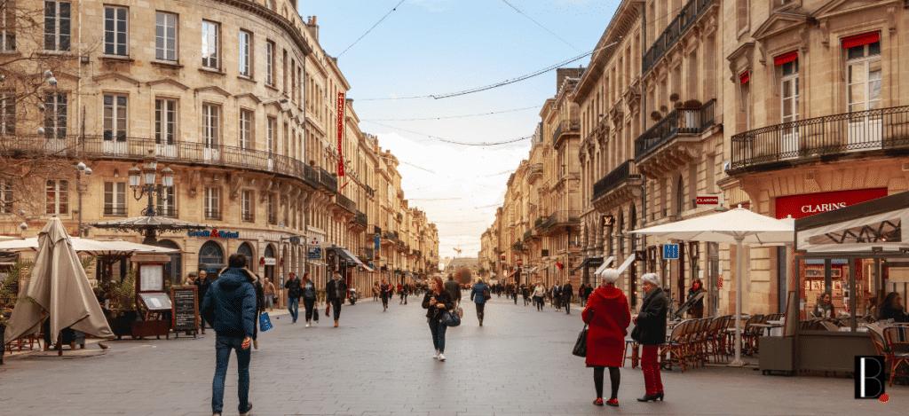 Rue commerces Bordeaux business
