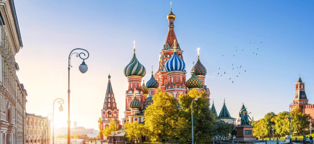 Saint Basile monument Moscou célèbre coloré Russie