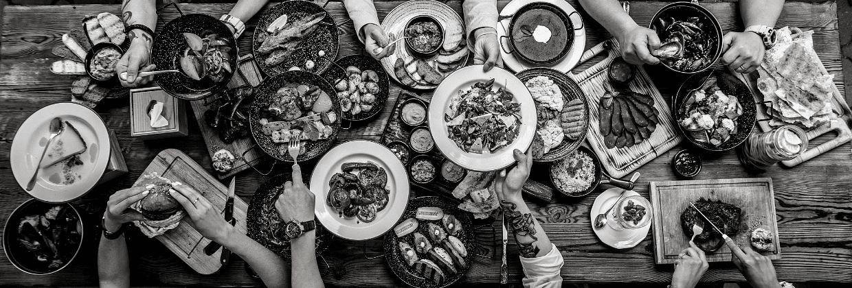 buffet repas aliments gourmandise