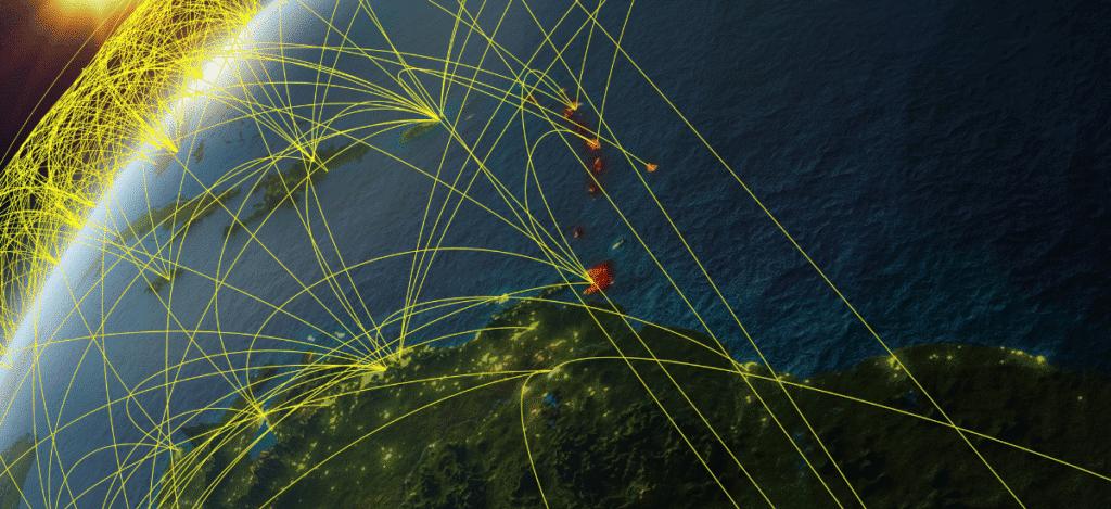 Liaisons aériennes dans le monde