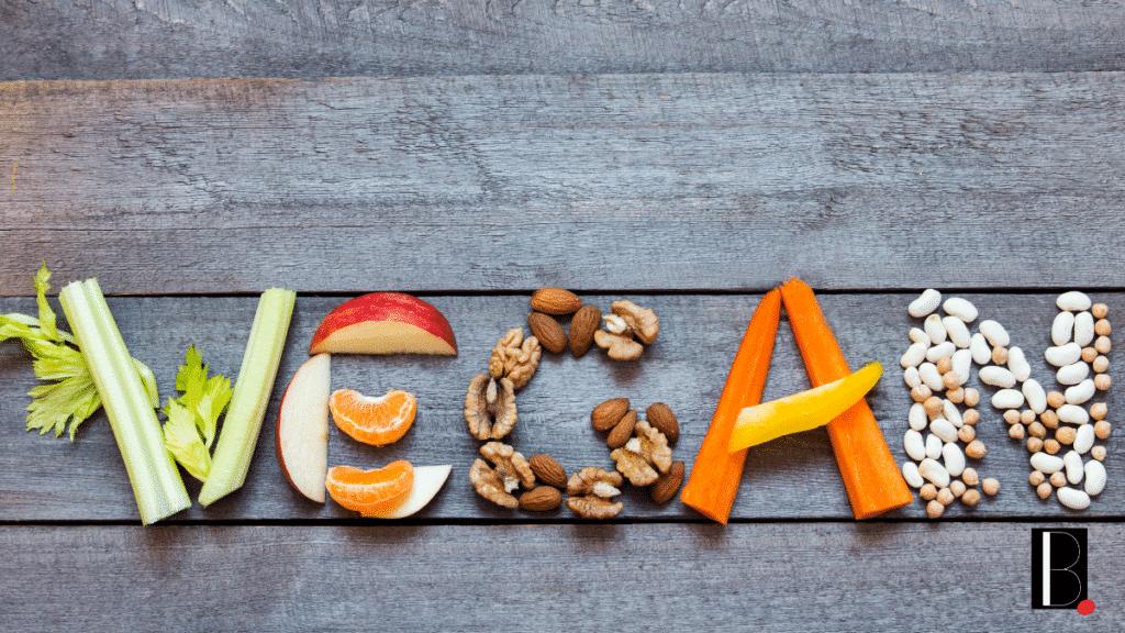 letter vegetables vegan fruit