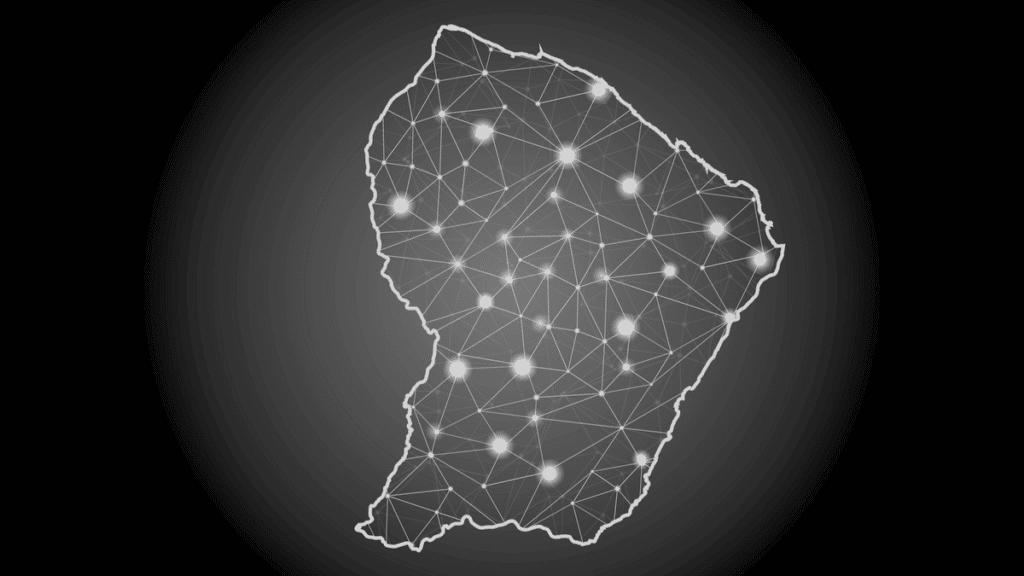 Une carte de points et de ligne qui forme un écosystème.