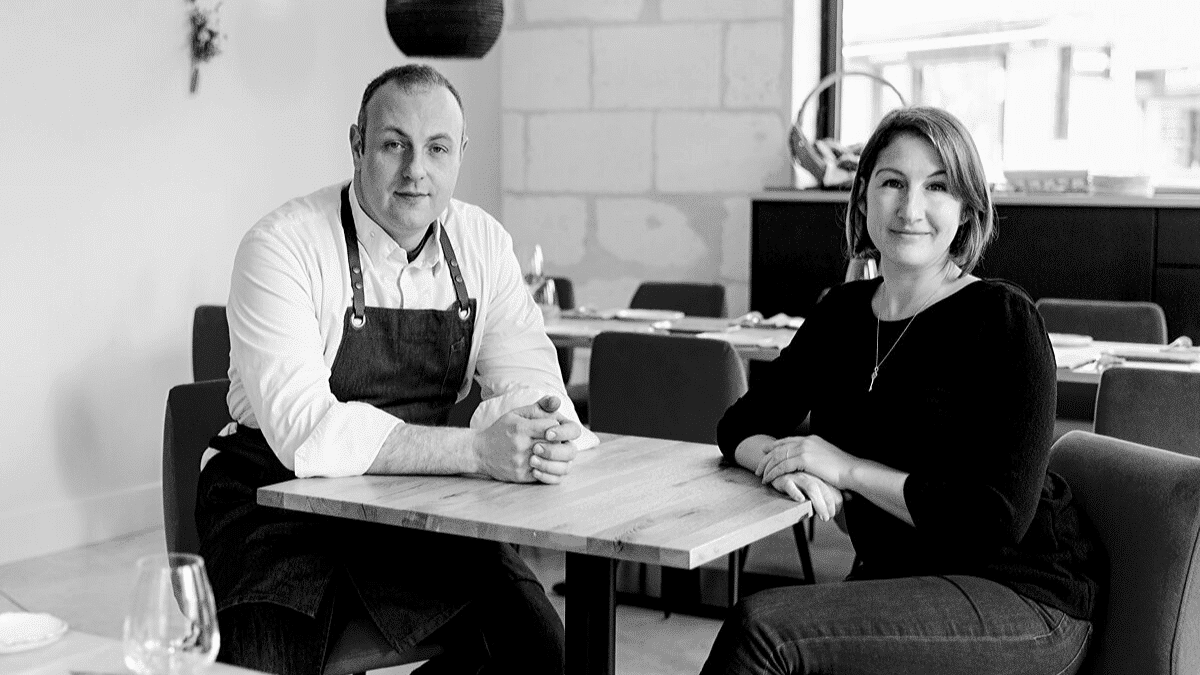 Portrait Emilie et Fabien BEAUFOUR dirigeants restaurant le Cent33 interview Bordeaux Business