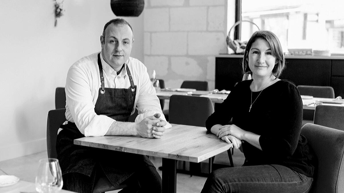 Portrait Emilie et Fabien BEAUFOUR dirigeants restaurant le Cent33 interview Bordeaux Business