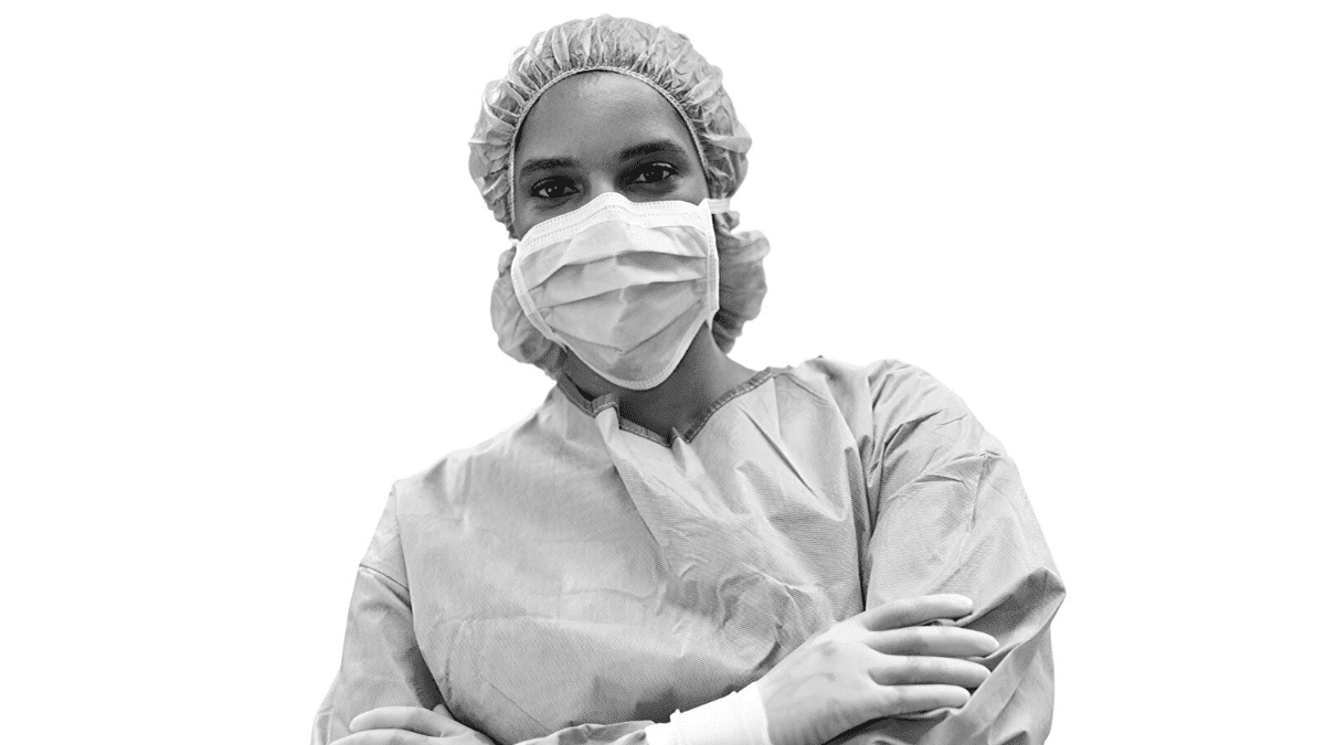 Femme médecin soin Covid-19 Bordeaux Business