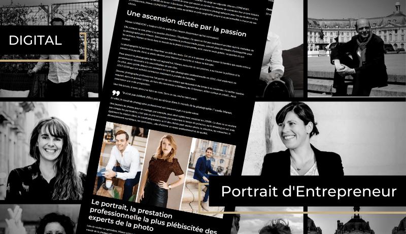 portrait d'entrepreneur publié sur le site internet de BORDEAUX Business