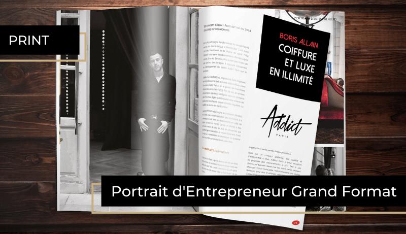 portrait d'entrepreneur grand format 6 pages dans le magazine semestriel BORDEAUX Business