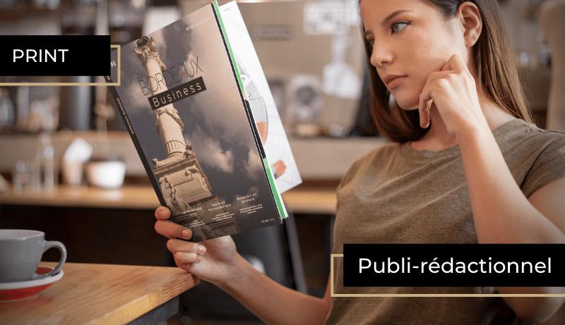 publi-rédactionnel publié dans le magazine semestriel BORDEAUX Business