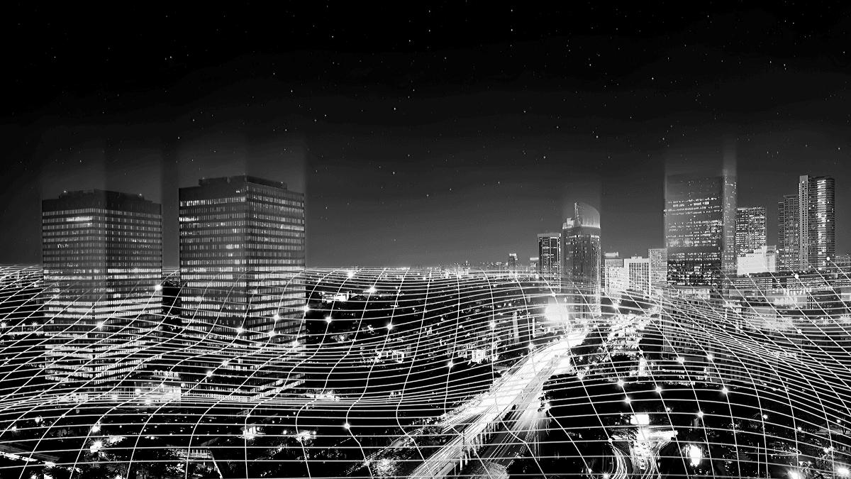 Transformation digitale bâtiment stylisé