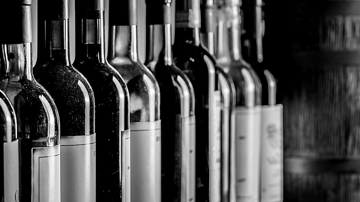 Bouteilles de vin Bordeaux