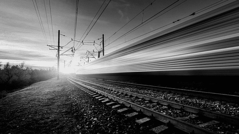 Voie ferrée train