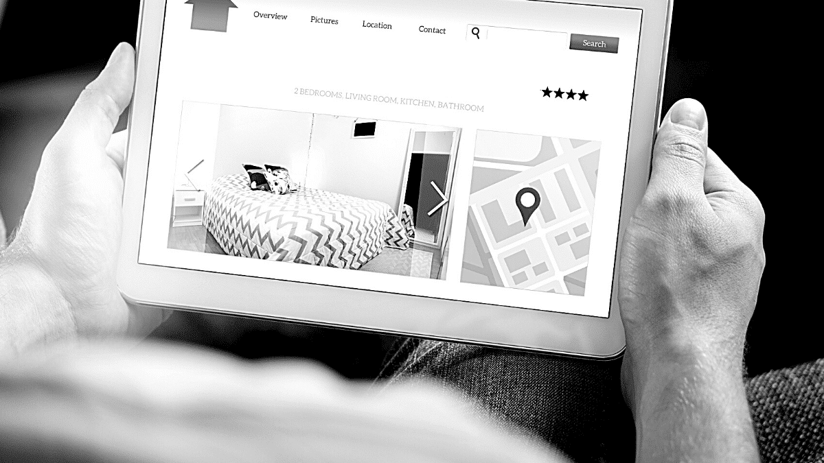 annonce professionnel site immobilier tablette homme