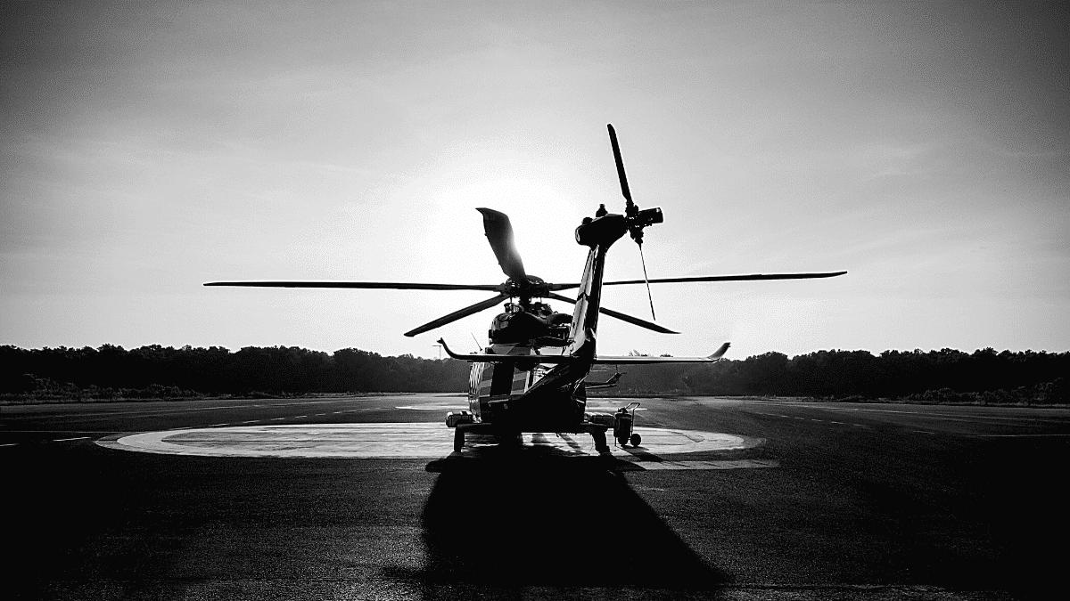 Hélicoptère Airbus prêt à décoller