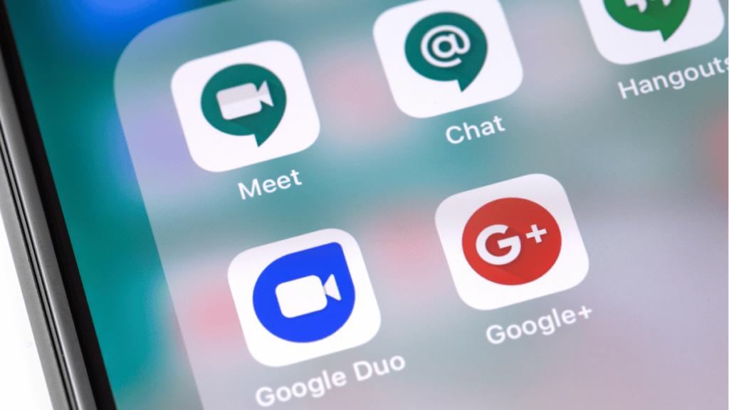 Nouvelles applications gmail pour les visioconférence, le chat et la communication interne en entreprise