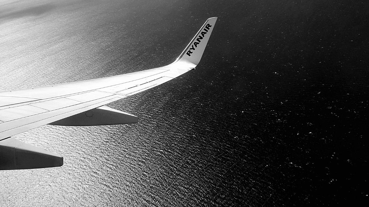 Aile avion Ryanair vol