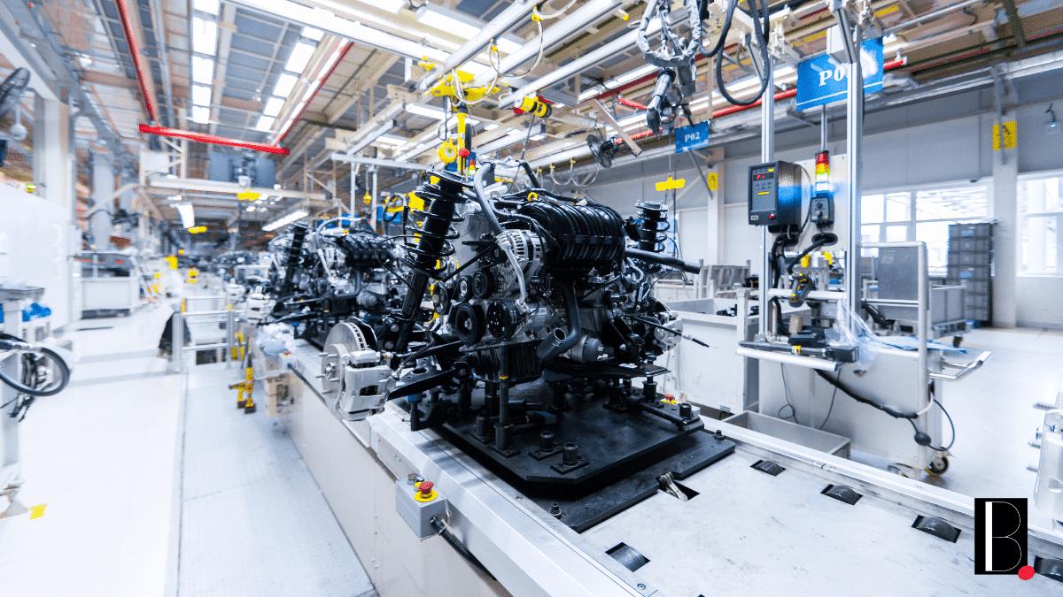 Chaîne de production automobile industrie