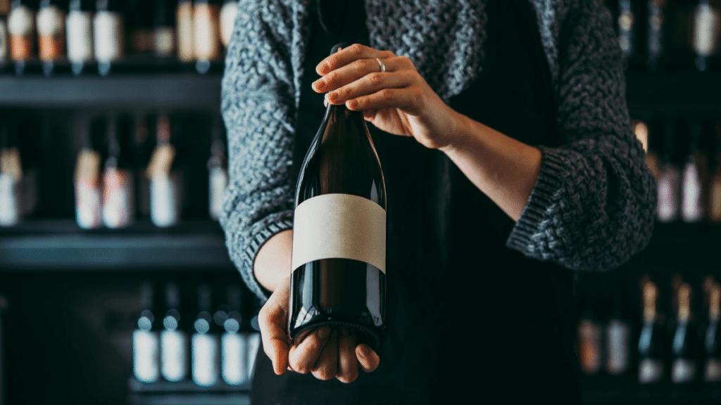 Vente de bouteille de vin rouge