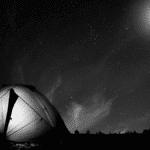 Tente en camping nuit vacances