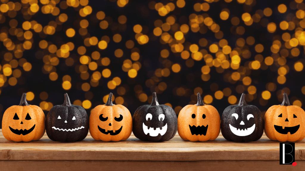 pumpkin orange and black faces