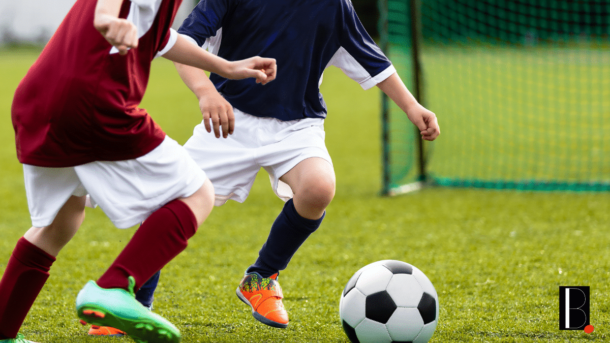 intersport enfants joueurs foot