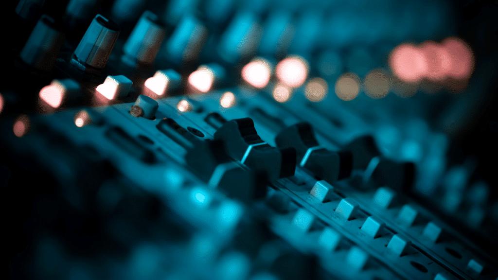 Platine de musique mixage art
