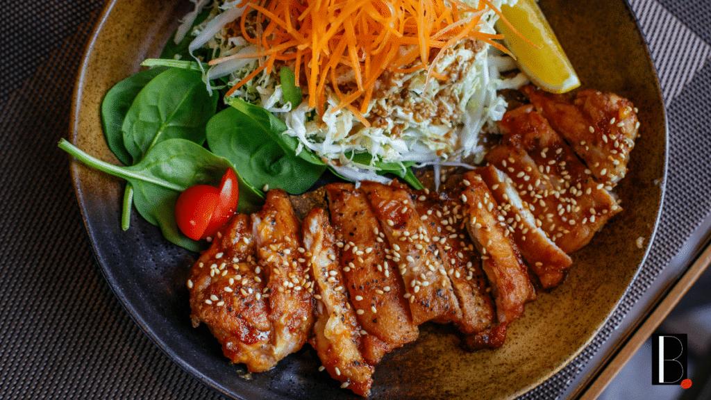 Repas gourmand poulet