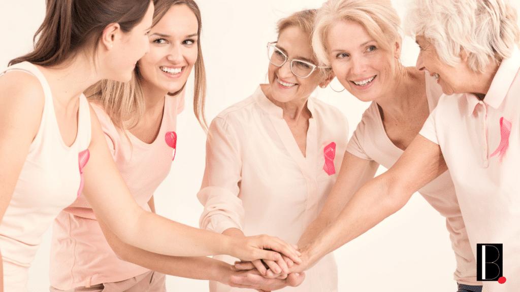 Femmes groupe ruban rose
