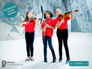 Donnons pour Démos Philharmonie Paris