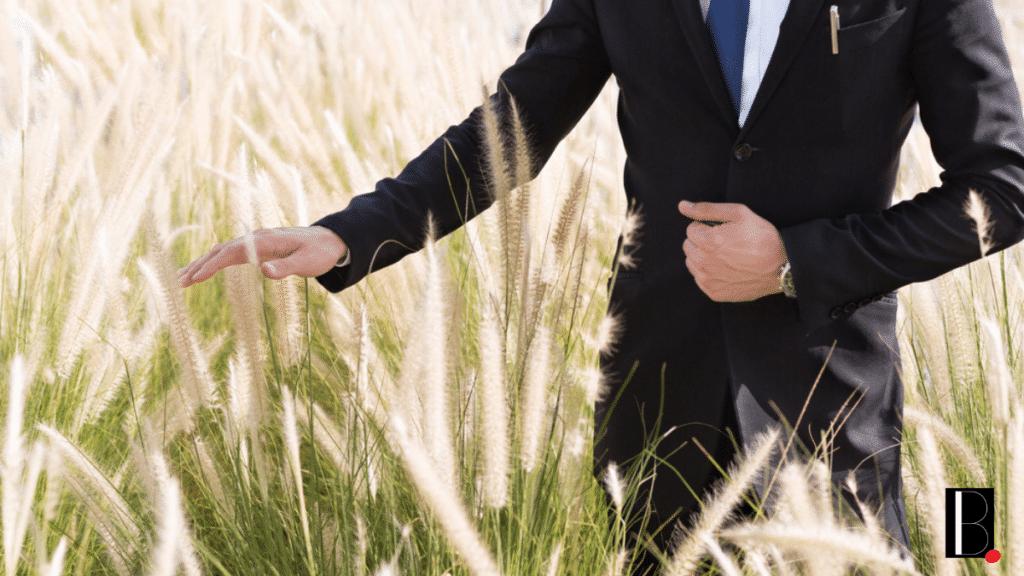 Businessman fields business value company