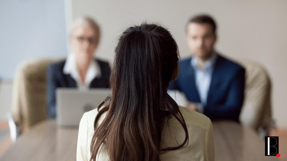 Entretien embauche emploi candidate