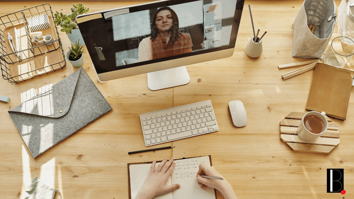 employees in videoconference telework maintaining social link