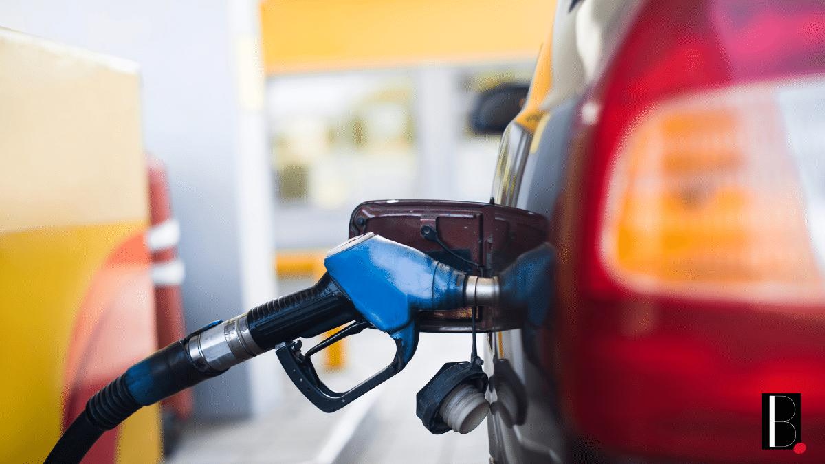 Full tank petrol car