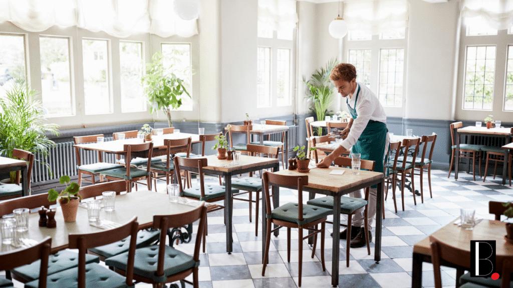Restaurant préparation salle