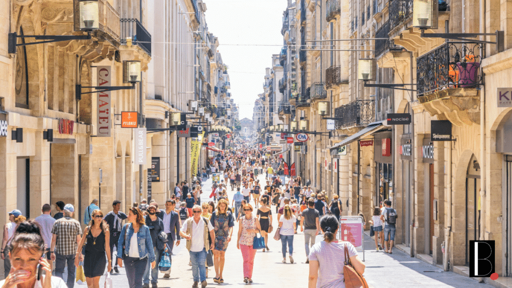 St Catherine Bordeaux shopping street