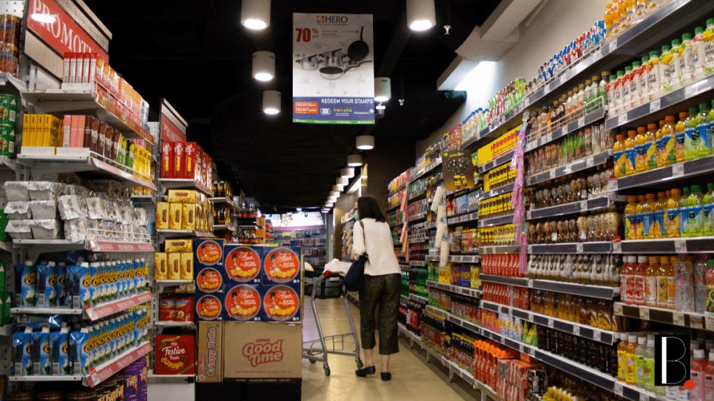 Supermarket food trade