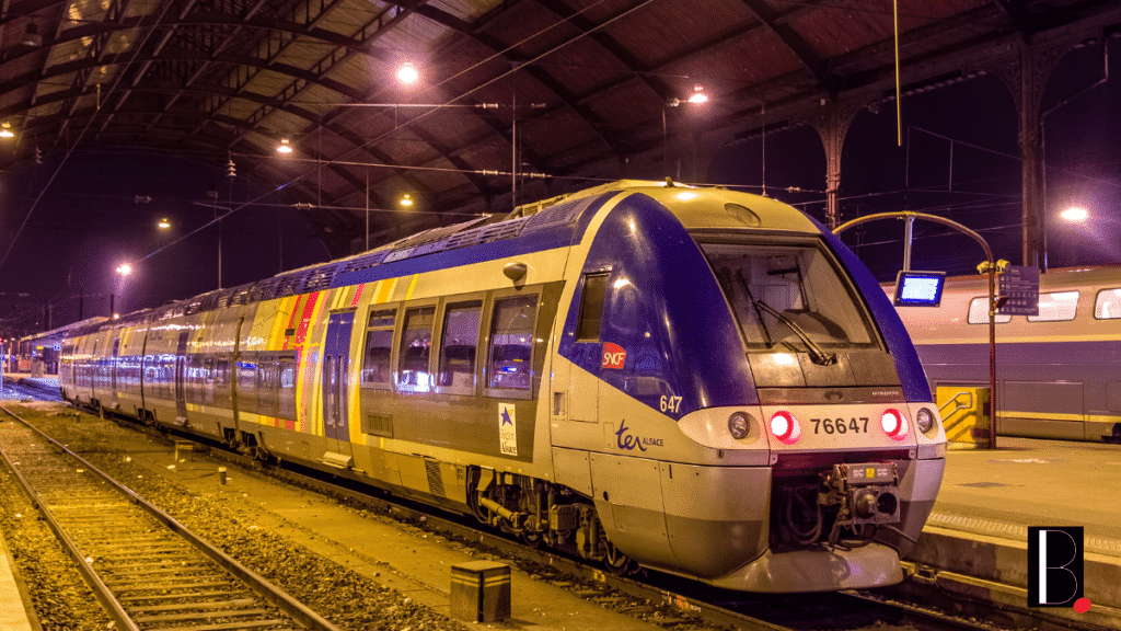 Transport train gare TER