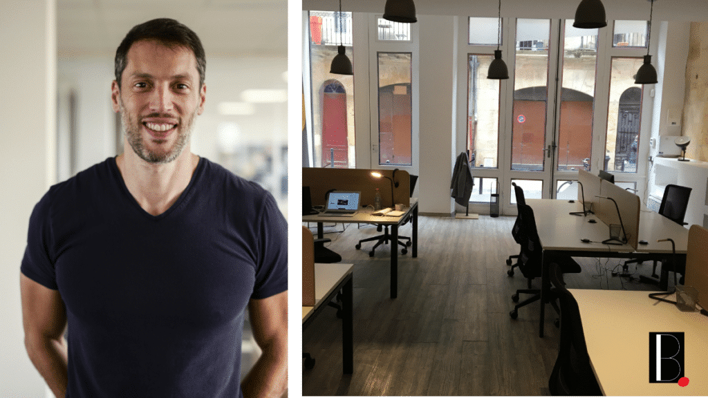 Tony Marcello CEO and founder of the digital agency Strategia new location in Bordeaux