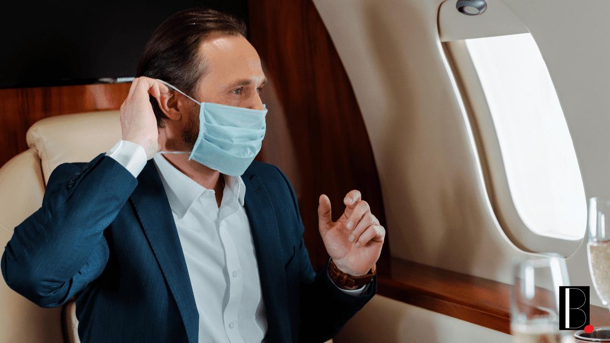 Businessman avion rencontre client entreprise