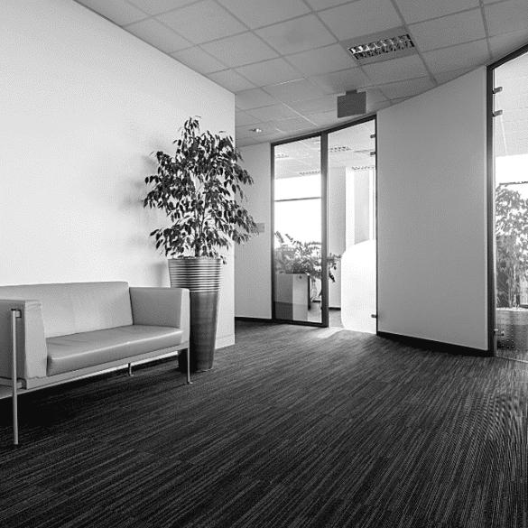 accueil bureau design canapé lumière entreprise