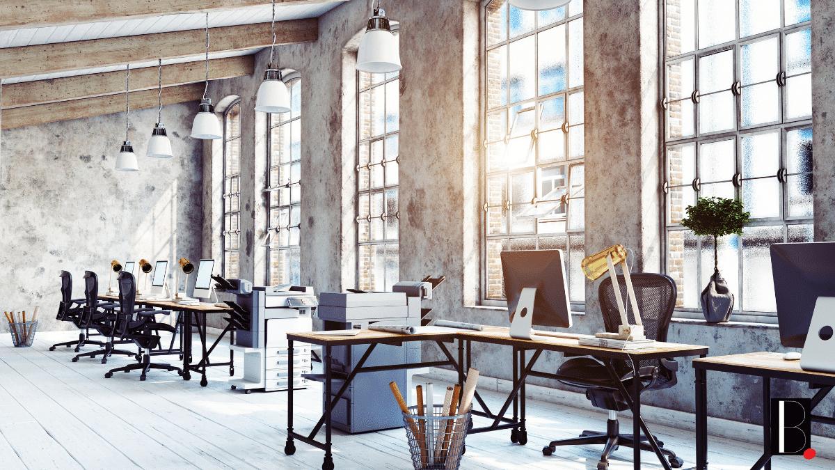 modern industrial open space office