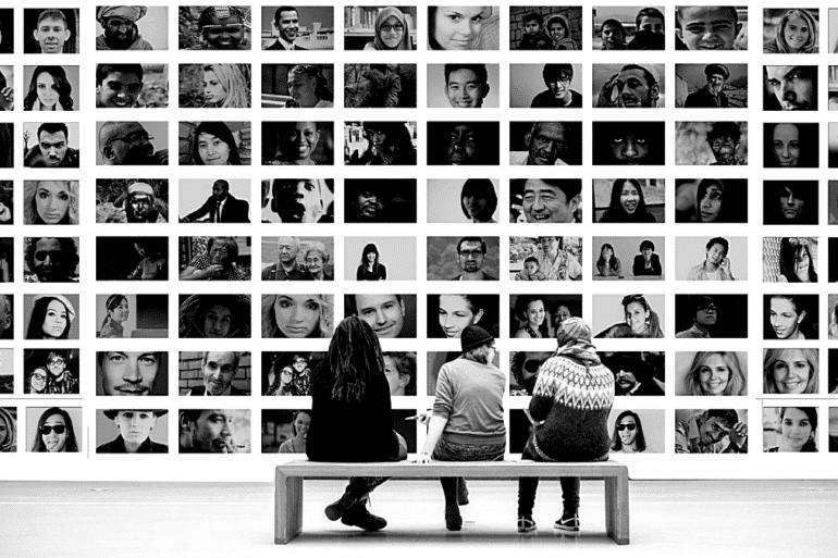 Mur image portrait oeil photographe