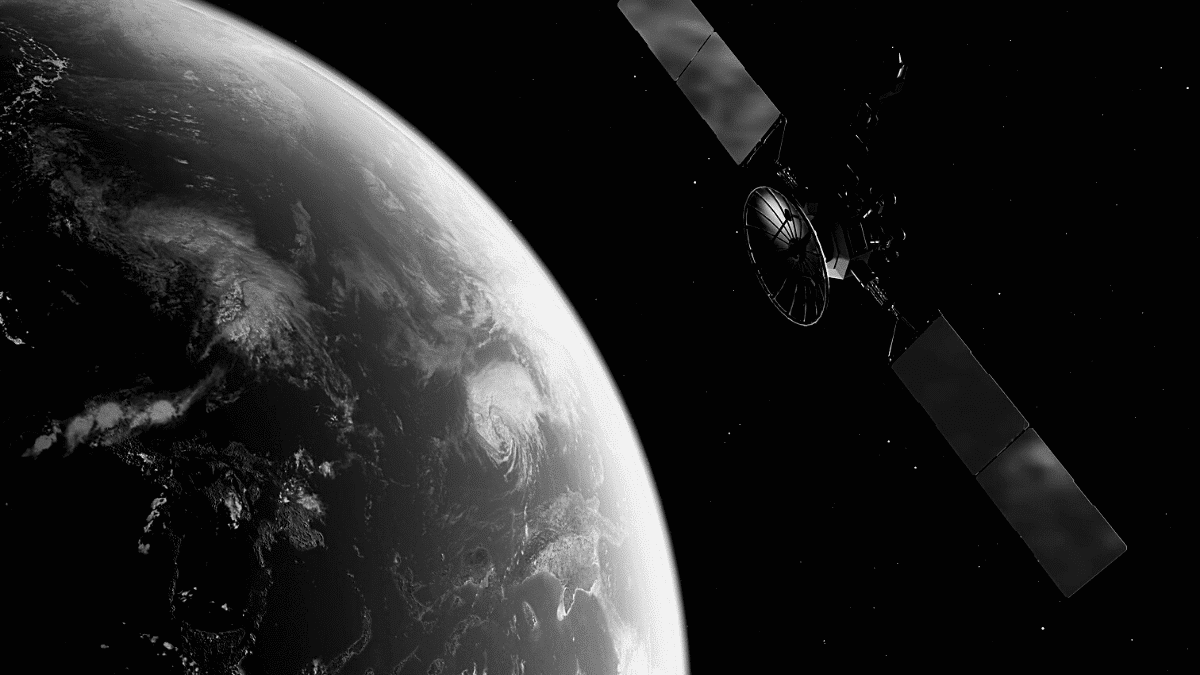 Earth space satellite airbus reflector