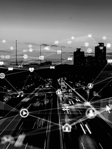 Edge Computing ville futuriste technologie