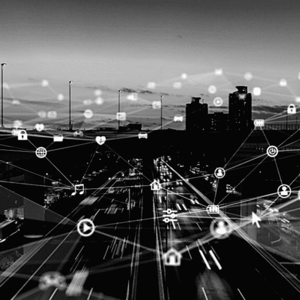 Edge Computing Futuristic City Technology